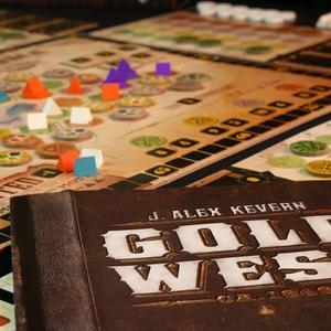 Instrukcja i rozłożona plansza (Gold West)