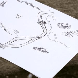Mapa z rysunkami graczy (The Quiet Year)