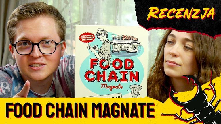 Kamis i Madzia przy grze Food Chain Magnate