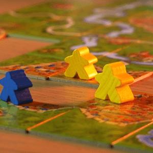 Pionki na kafelkach (żetonach planszy) (Carcassonne)