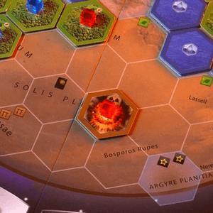 "Na planszy obszar specjalny ""Strefa nuklearna"". (Terraformacja Marsa)"