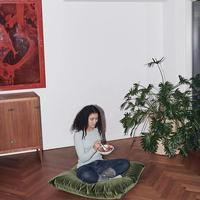 Our Mighty floor cushion - a statement f... #gethommey