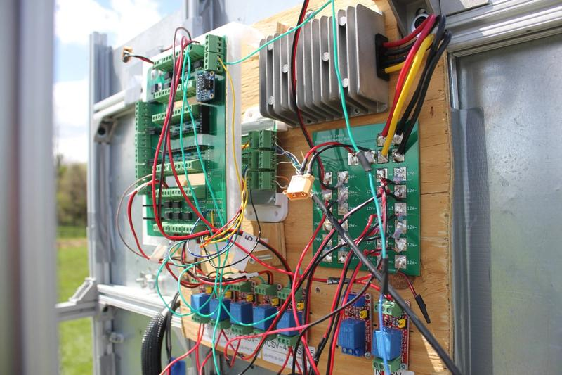 Electronics system consisting of a PCB, PDB, relays, and more