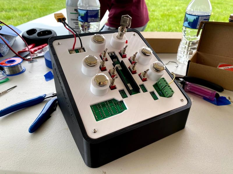 Launch box for back-up remote valve/system control