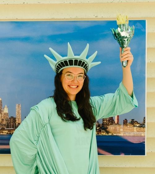 Hayley in a Statue of Liberty Costume