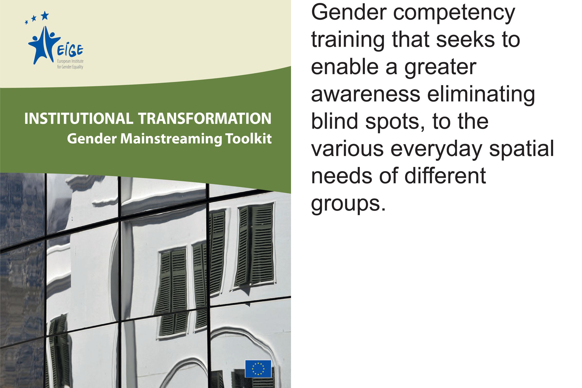 Gender sensitisation - Gender competency training that seeks to enable a greater awareness eliminating blind spots, to the various everyday spatial needs of different groups.