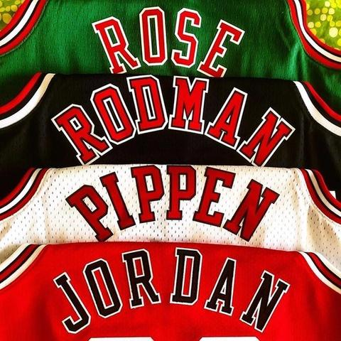 Pure royalty 🤴🏽 What a collection from... . . . . #NBA #Rose #jordan #pippen #rodman #swimgman #mitchellandness