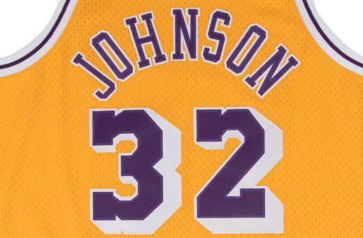 MAGIC JOHNSON 1984-85 L.A LAKERS HOME SWINGMAN JERSEY