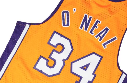 SHAQUILLE O'NEAL 1999-00 L.A LAKERS HOME SWINGMAN JERSEY
