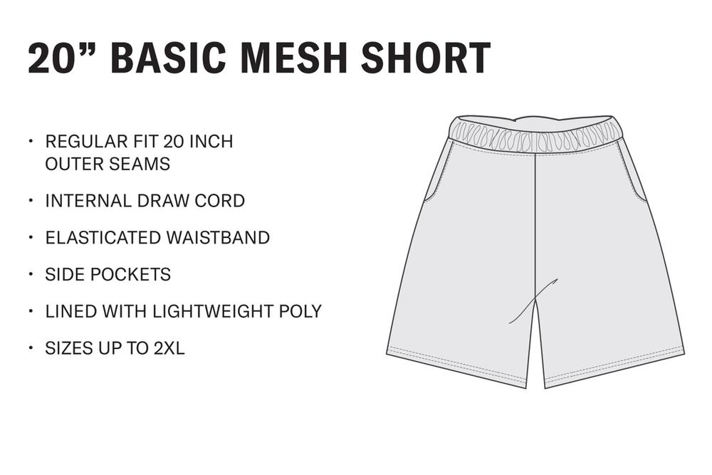 Men's Basic Mesh Short