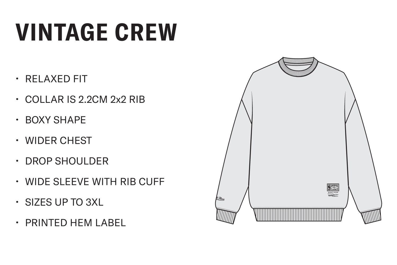 Men's Vintage Crew Neck