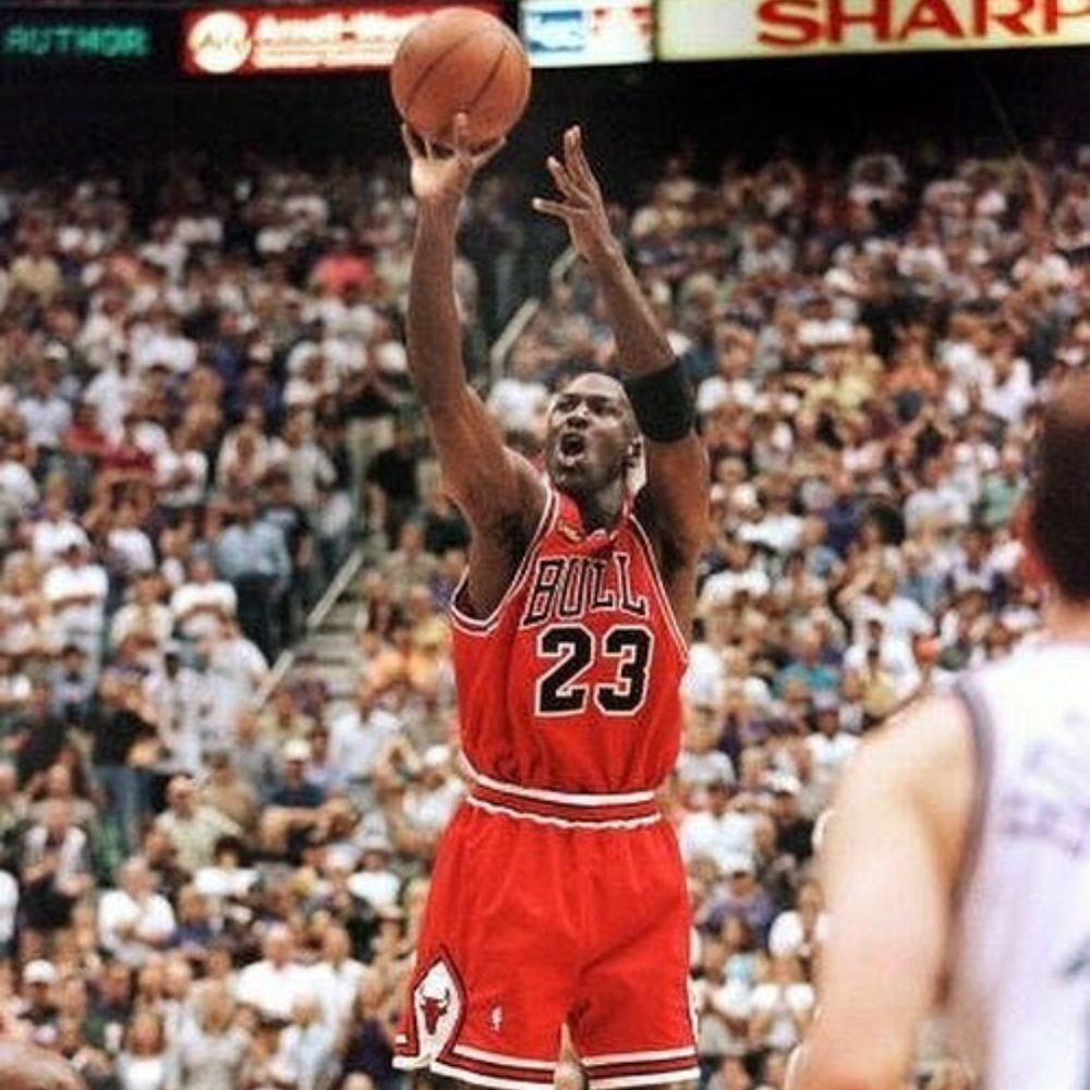 Jordan in the Bulls Championship team