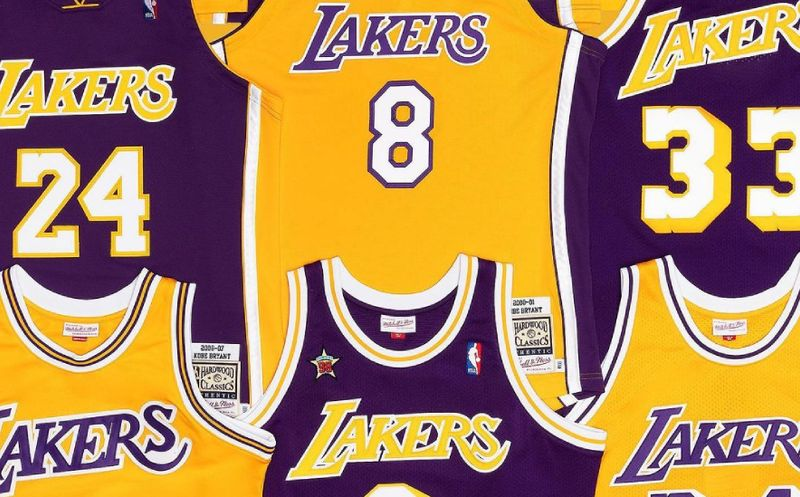 Our Top 5 Favourite LA Lakers jerseys