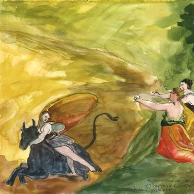 Ejercicio de confinamiento nº 23. El rapto de Europa (Goya)