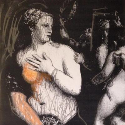 Venus con espejo y amor