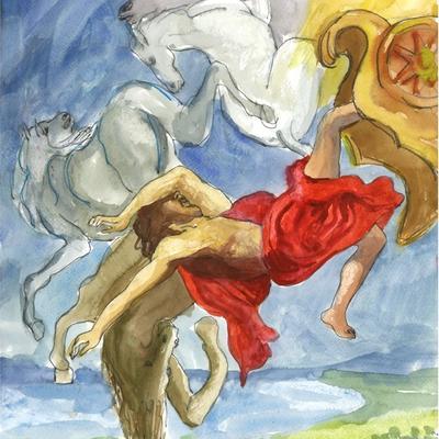 Ejercicio de confinamiento nº 15. La caída de Faetón (Eyck-Rubens)