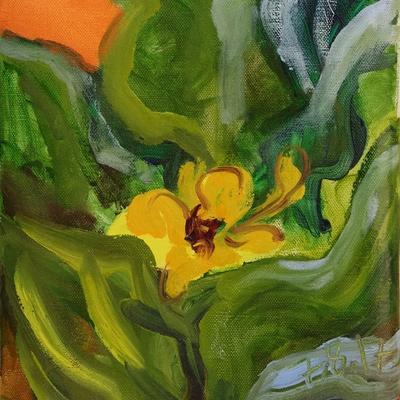 Ramo con flor de caña