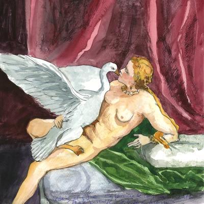 Ejercicio de confinamiento nº 14. Leda y el cisne (Veronese)
