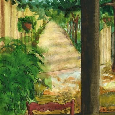 Rinky y Dulce entre las hojas
