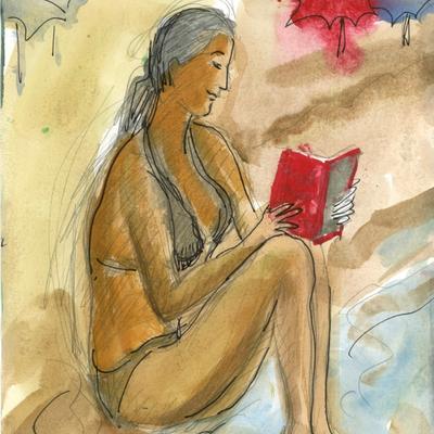 Leyendo en la orilla