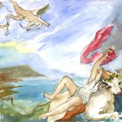 Ejercicio de confinamiento nº 22. El rapto de Europa (Tiziano/Rubens)
