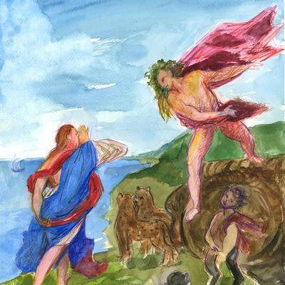 Ejercicio de confinamiento nº 19. Fragmento de Baco y Ariadna (Tiziano)