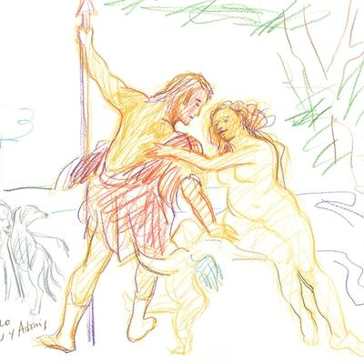 Ejercicio de confinamiento nº 3. Venus y Adonis (Rubens)