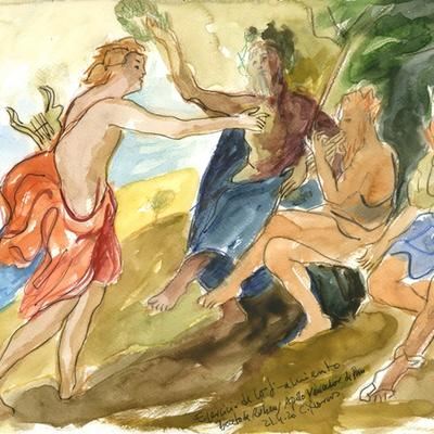 Ejercicio de confinamiento nº 27. Apolo vencedor de Pan (Rubens)