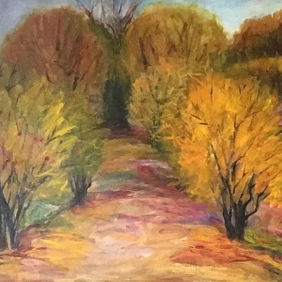 El pasillo de los granados en otoño