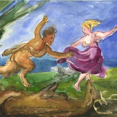 """Ejercicio de confinamiento nº 44. Fragmento de """"Diana y sus ninfas sorprendidas por sátiros"""" (Rubens)"""