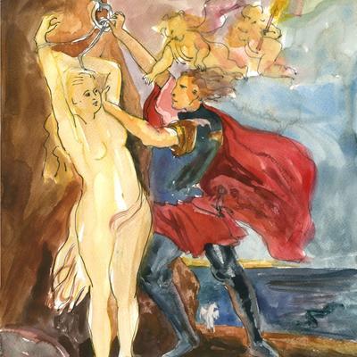 Ejercicio de confinamiento nº 29. Andrómeda libertada por Perseo (Rubens)