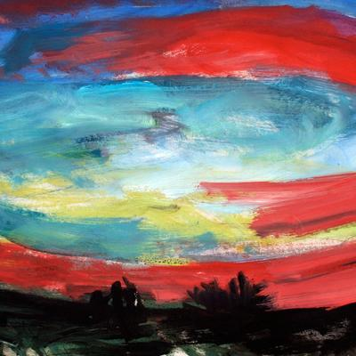 """Puertas del cielo III (38º31'23""""N1º18'48""""O La Alquería) Boceto 3"""