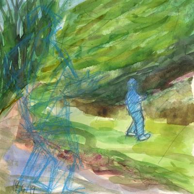 Nene caminando (boceto)