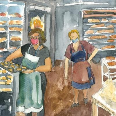 Horneando el pan
