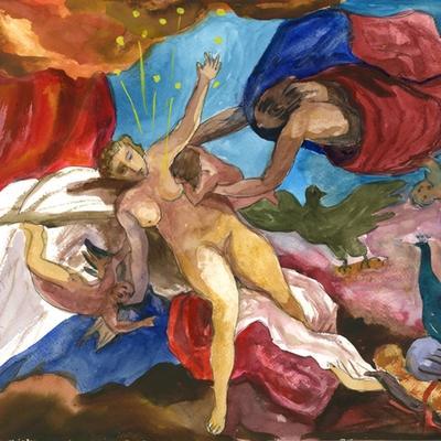 Ejercicio de confinamiento nº 17. El origen de la Vía Láctea (Tintoretto)