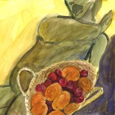 Bronce y frutas