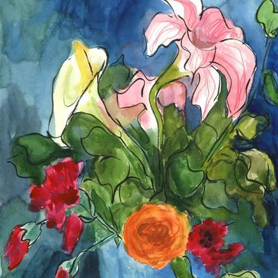 Ramo de hiedra y flores de mis macetas