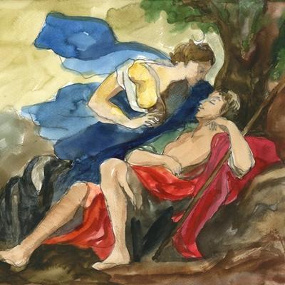 Ejercicio de confinamiento nº 30. Diana y Endimión (Giordano)