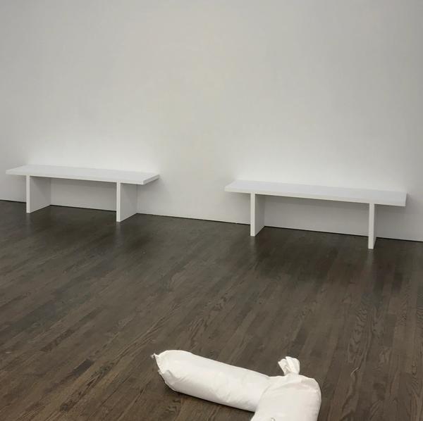 plain white benches