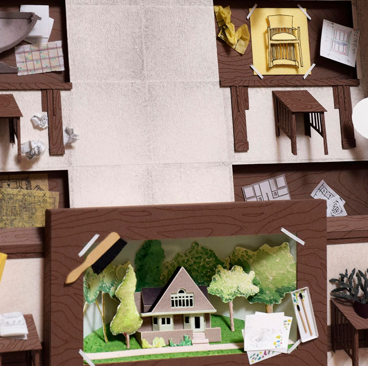 frank Lloyd Wright Home studio