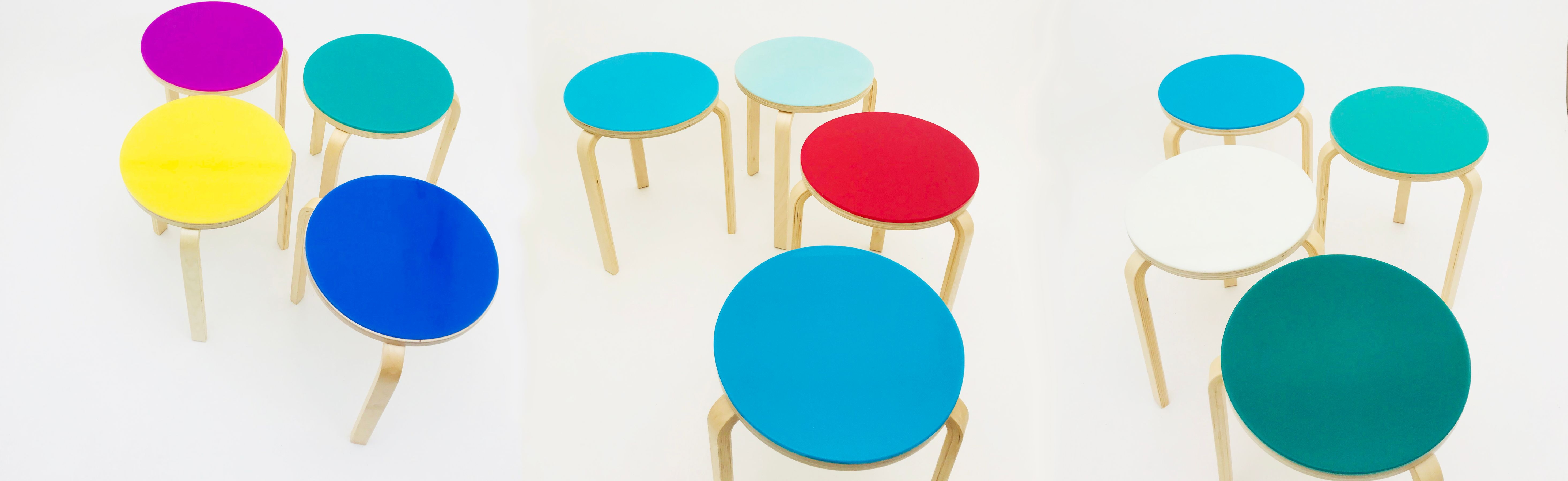 wide stools