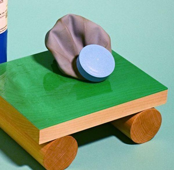 Resin on wood