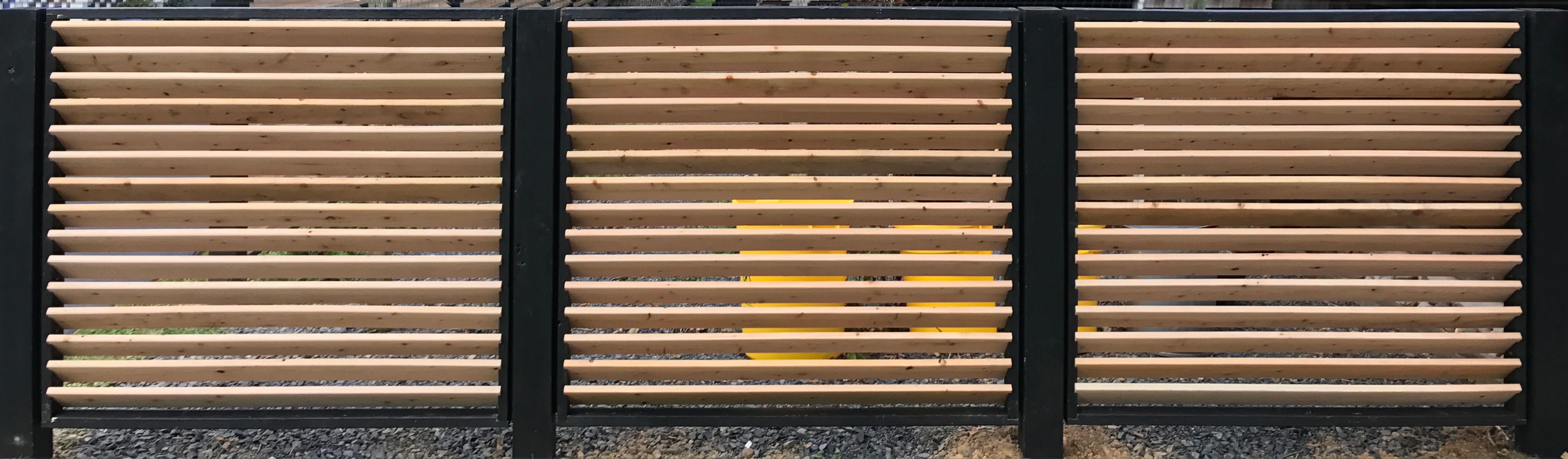 fence cedar horizontal slat