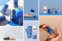 Collage of images showing supplement bottles, capsules, and raw ingredients_Proper