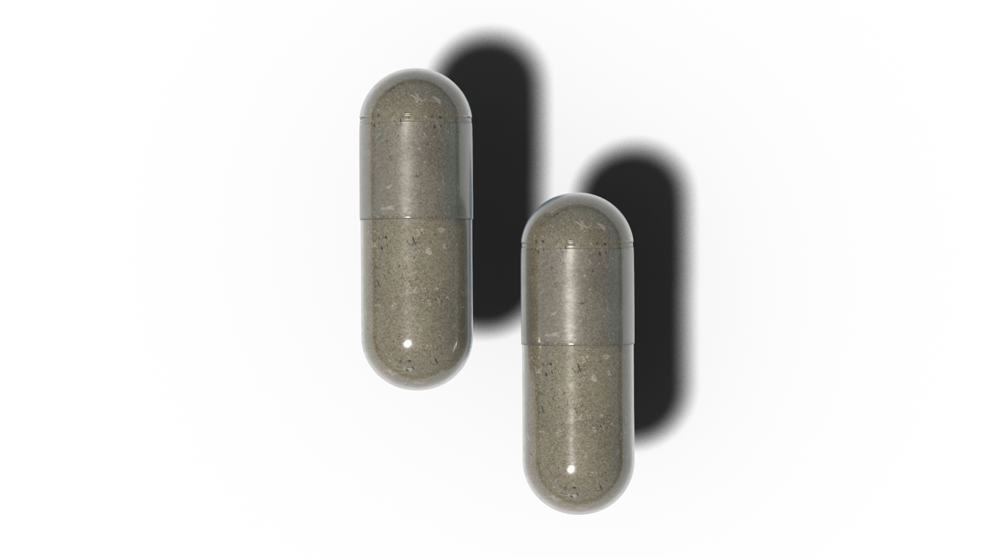 Two sleep supplement capsules