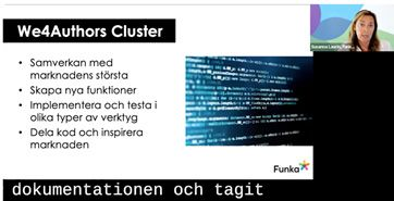 Screenshot of Funka webinar about the project