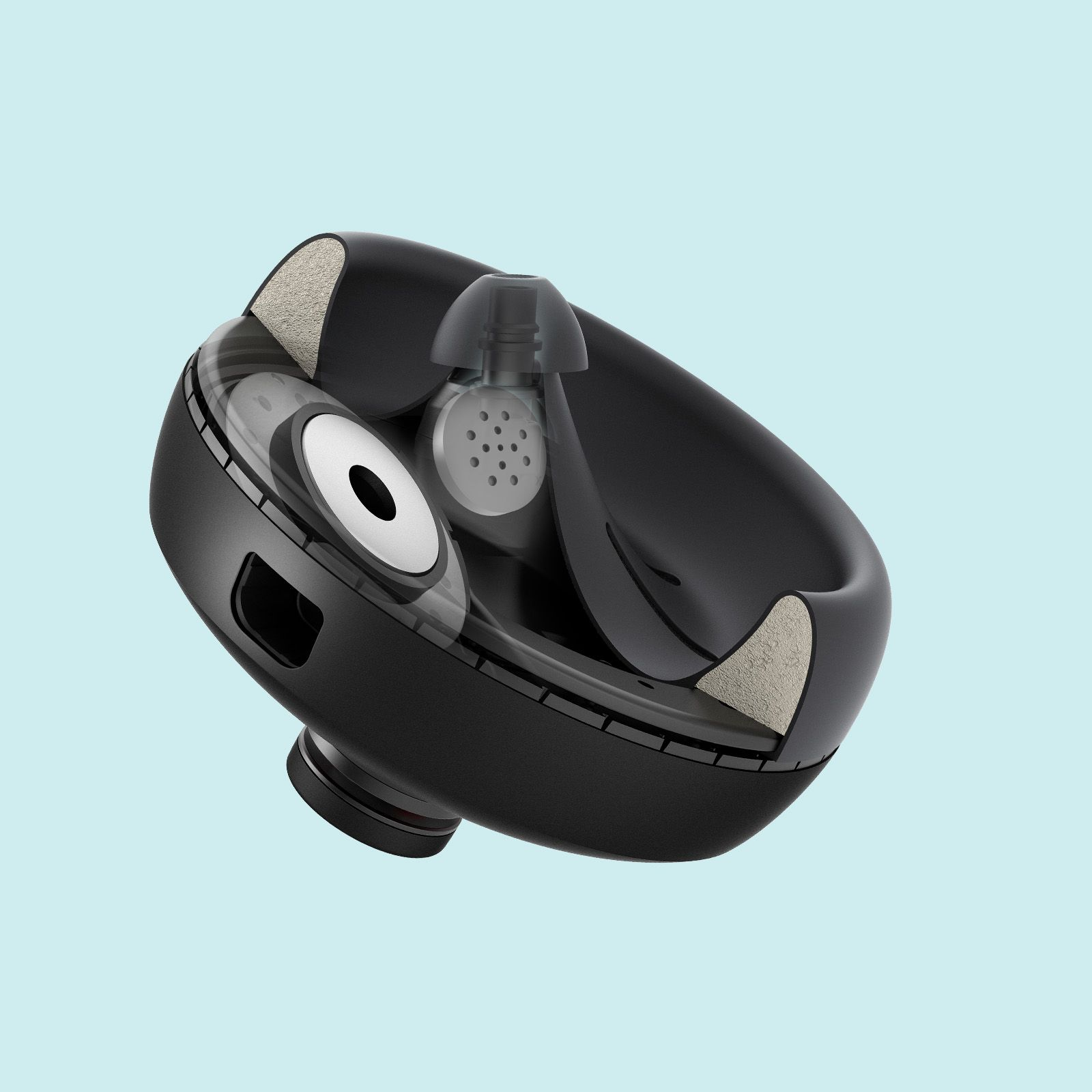 NURAPHONE headphones driver and speaker close-up