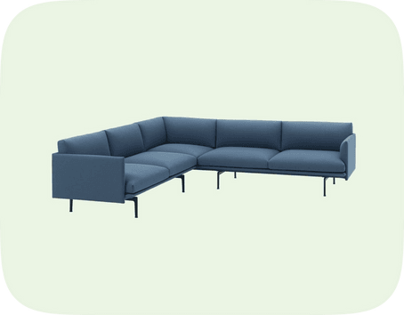 Corner sofa - Store og Liten ting - 235 kr/mnd