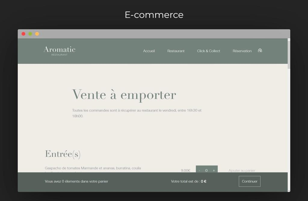 e-commerce screen