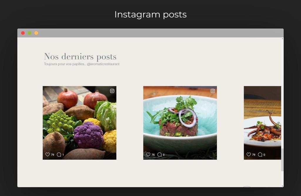 Instagram integration